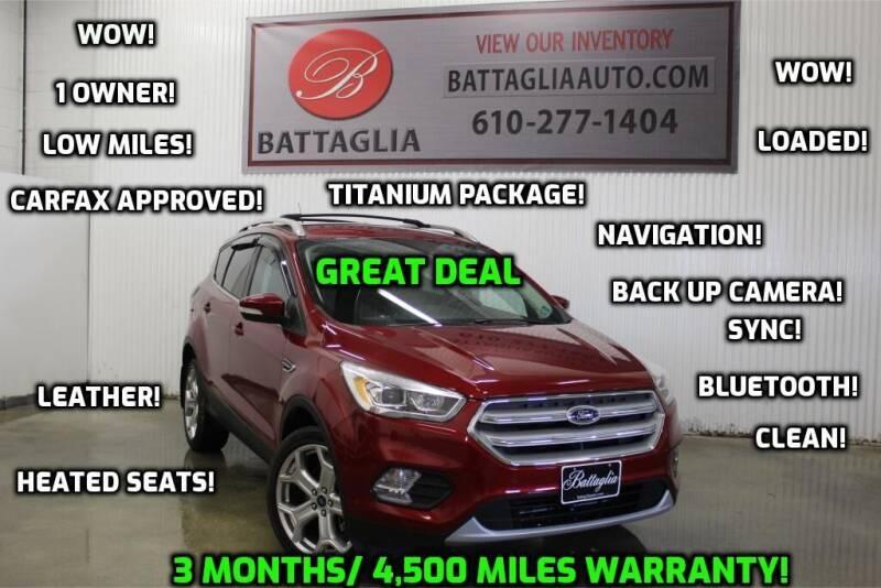 2019 Ford Escape for sale at Battaglia Auto Sales in Plymouth Meeting PA