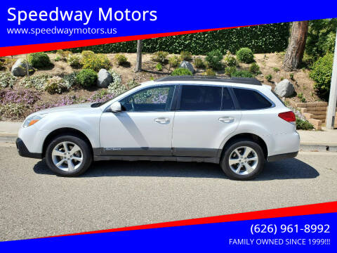 2013 Subaru Outback for sale at Speedway Motors in Glendora CA