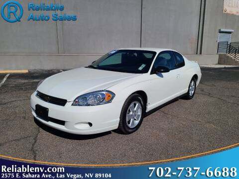 2006 Chevrolet Monte Carlo for sale at Reliable Auto Sales in Las Vegas NV