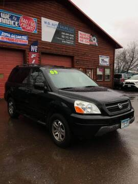 2003 Honda Pilot for sale at WB Auto Sales LLC in Barnum MN