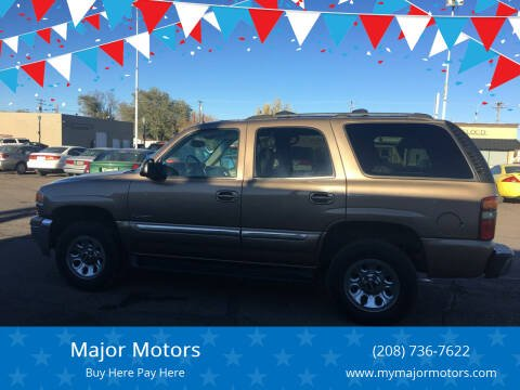 2003 GMC Yukon for sale at Major Motors in Twin Falls ID