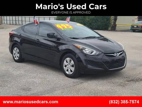 2016 Hyundai Elantra for sale at Mario's Used Cars - Pasadena Location in Pasadena TX