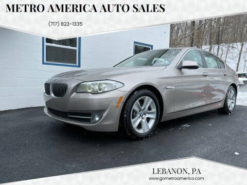 2013 BMW 5 Series for sale at METRO AMERICA AUTO SALES of Lebanon in Lebanon PA