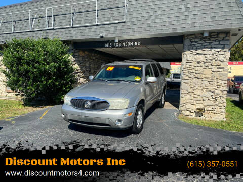 2004 Buick Rainier for sale at Discount Motors Inc in Old Hickory TN