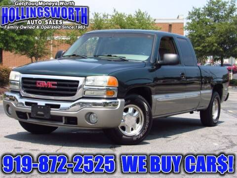 2003 GMC Sierra 1500 for sale at Hollingsworth Auto Sales in Raleigh NC