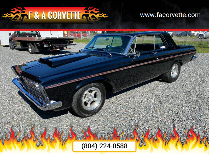1963 Plymouth Belvedere for sale at F & A Corvette in Colonial Beach VA