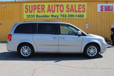 2016 Dodge Grand Caravan for sale at Super Auto Sales in Las Vegas NV
