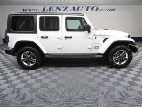 2020 Jeep Wrangler Unlimited for sale at LENZ TRUCK CENTER in Fond Du Lac WI
