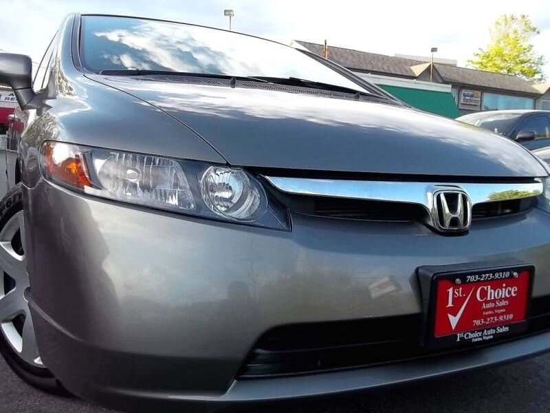 2008 Honda Civic for sale at 1st Choice Auto Sales in Fairfax VA