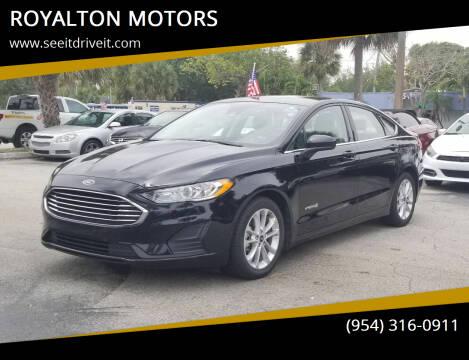 2019 Ford Fusion Hybrid for sale at ROYALTON MOTORS in Plantation FL