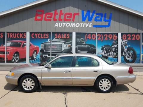 2002 Lincoln Continental for sale at Betterway Automotive Inc - of Auburn in Auburn NE