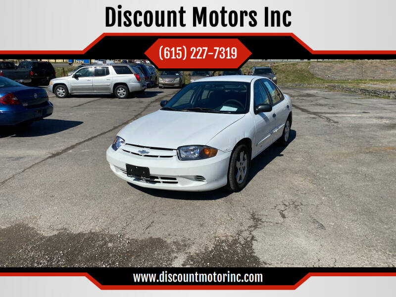 2004 Chevrolet Cavalier for sale at Discount Motors Inc in Nashville TN