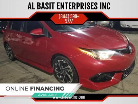 2018 Toyota Corolla iM for sale at AL BASIT ENTERPRISES INC in Riverside CA