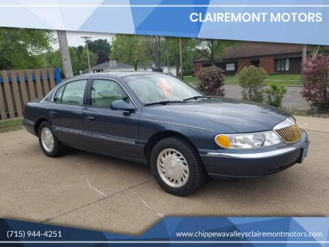 1998 Lincoln Continental for sale at Clairemont Motors in Eau Claire WI