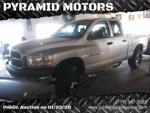 2006 Dodge Ram Pickup 1500 for sale at PYRAMID MOTORS - Pueblo Lot in Pueblo CO