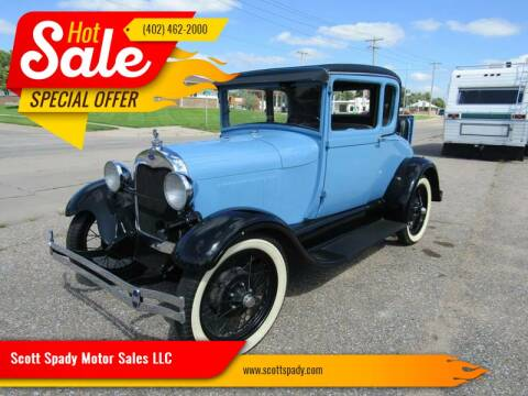 1928 Ford Model A for sale at Scott Spady Motor Sales LLC in Hastings NE