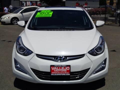 2014 Hyundai Elantra for sale at Vallejo Motors in Vallejo CA