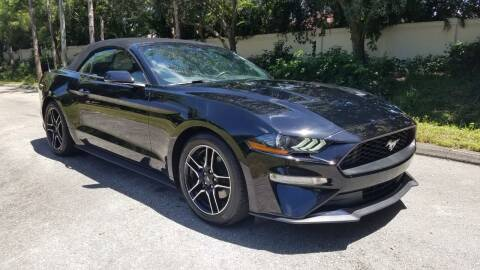 2019 Ford Mustang for sale at DELRAY AUTO MALL in Delray Beach FL