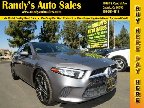 2019 Mercedes-Benz A-Class for sale at Randy's Auto Sales in Ontario CA