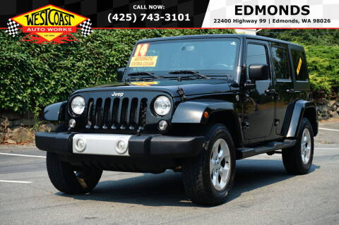 2014 Jeep Wrangler Unlimited for sale at West Coast Auto Works in Edmonds WA