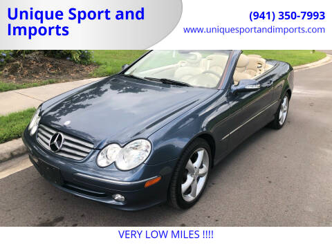 2005 Mercedes-Benz CLK for sale at Unique Sport and Imports in Sarasota FL