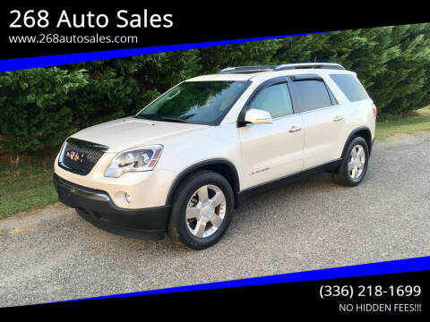 2008 GMC Acadia for sale at 268 Auto Sales in Dobson NC