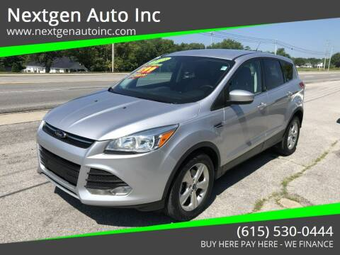 2015 Ford Escape for sale at Nextgen Auto Inc in Smithville TN