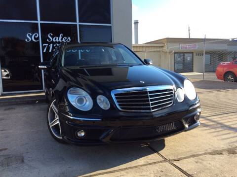 2009 Mercedes-Benz E-Class for sale at SC SALES INC in Houston TX