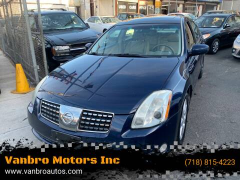 2006 Nissan Maxima for sale at Vanbro Motors Inc in Staten Island NY