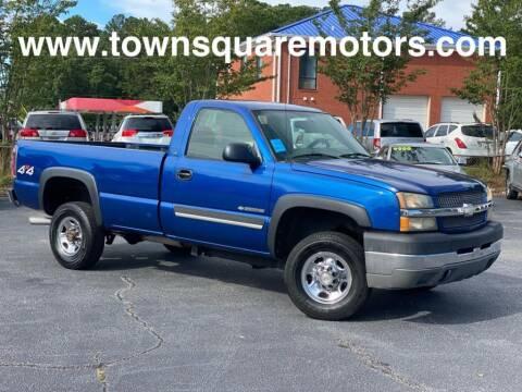 2004 Chevrolet Silverado 2500HD for sale at Town Square Motors in Lawrenceville GA