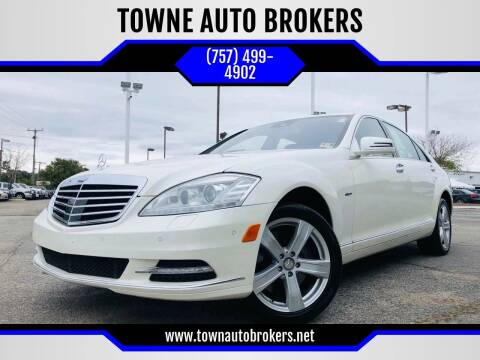 2012 Mercedes-Benz S-Class for sale at TOWNE AUTO BROKERS in Virginia Beach VA