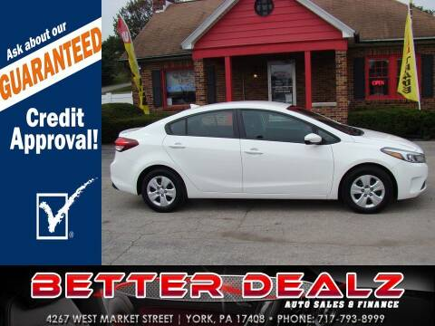 2017 Kia Forte for sale at Better Dealz Auto Sales & Finance in York PA
