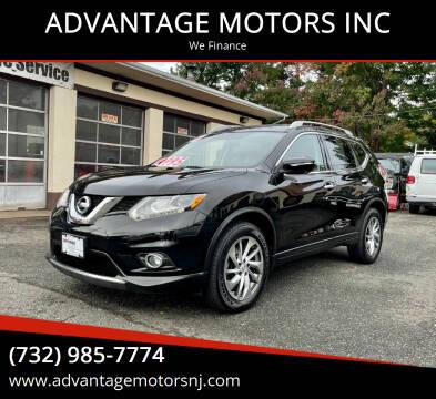 2014 Nissan Rogue for sale at ADVANTAGE MOTORS INC in Edison NJ