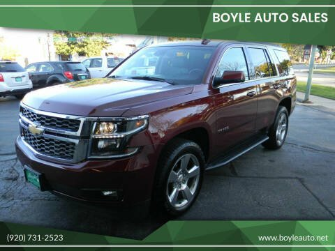 2016 Chevrolet Tahoe for sale at Boyle Auto Sales in Appleton WI