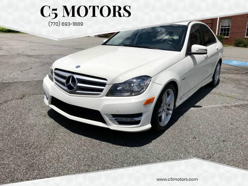 2012 Mercedes-Benz C-Class for sale at C5 Motors in Marietta GA