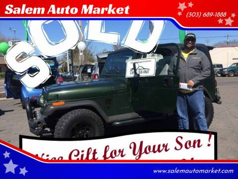 1995 Jeep Wrangler for sale at Salem Auto Market in Salem OR