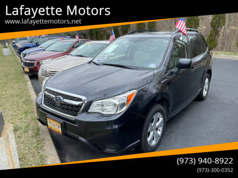 2015 Subaru Forester for sale at Lafayette Motors 2 in Andover NJ