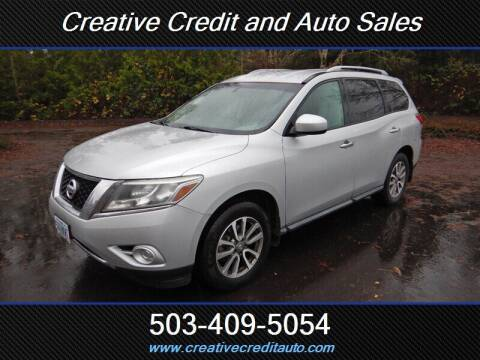 2013 Nissan Pathfinder for sale at Creative Credit & Auto Sales in Salem OR