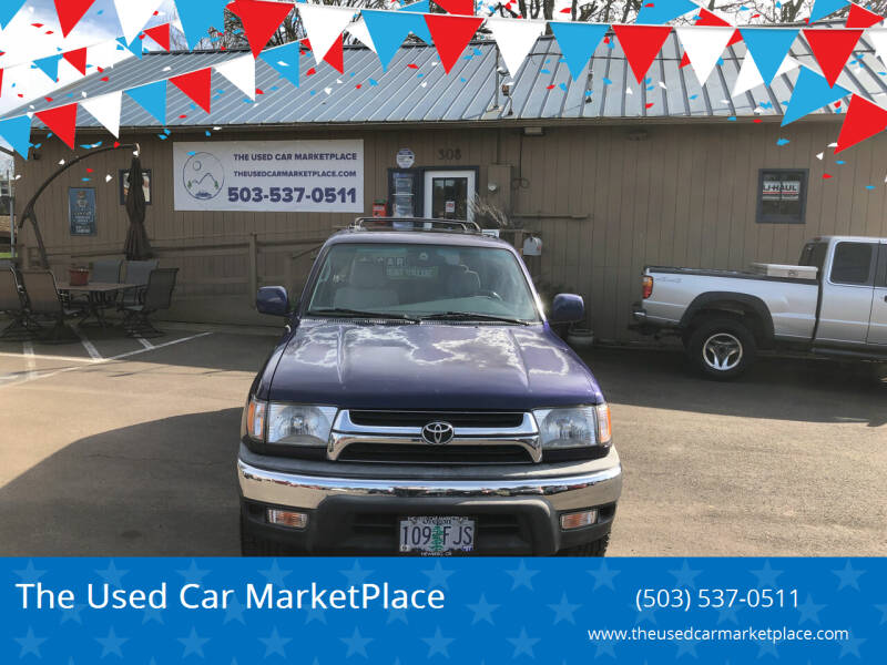 2001 Toyota 4Runner for sale at The Used Car MarketPlace in Newberg OR