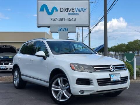 2013 Volkswagen Touareg for sale at Driveway Motors in Virginia Beach VA