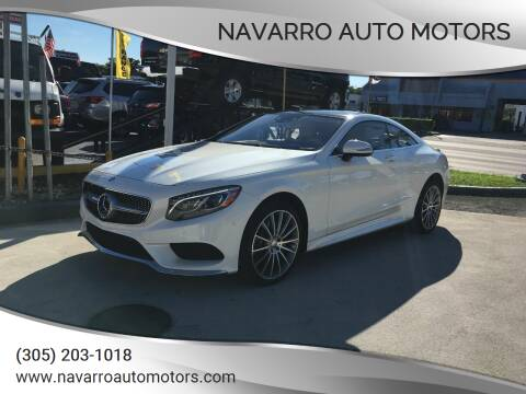 2016 Mercedes-Benz S-Class for sale at Navarro Auto Motors in Hialeah FL
