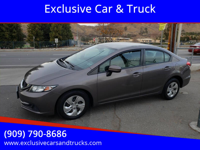 2014 Honda Civic for sale at Exclusive Car & Truck in Yucaipa CA