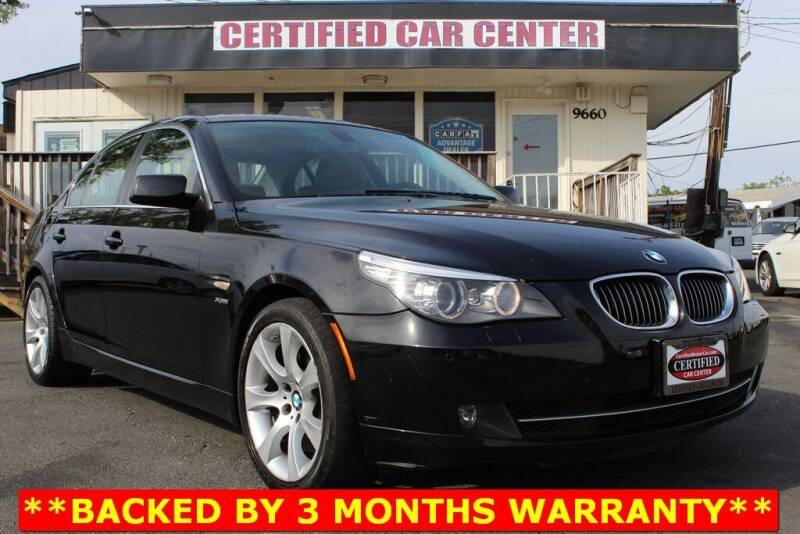 2009 BMW 5 Series for sale at CERTIFIED CAR CENTER in Fairfax VA
