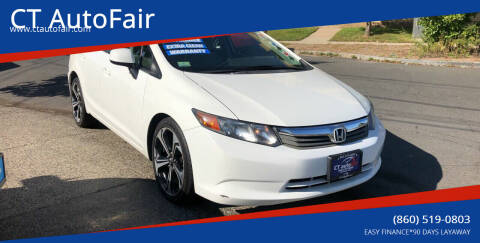 2012 Honda Civic for sale at CT AutoFair in West Hartford CT