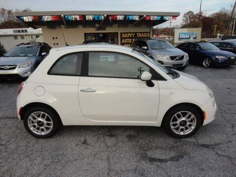 2012 FIAT 500 for sale at HAPPY TRAILS AUTO SALES LLC in Taylors SC