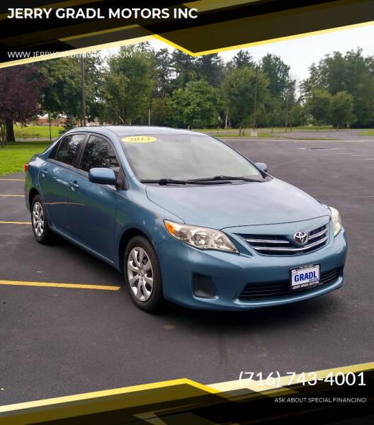 2013 Toyota Corolla for sale at JERRY GRADL MOTORS INC in North Tonawanda NY