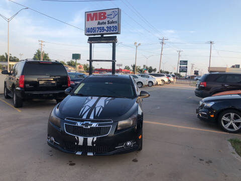 2013 Chevrolet Cruze for sale at MB Auto Sales in Oklahoma City OK