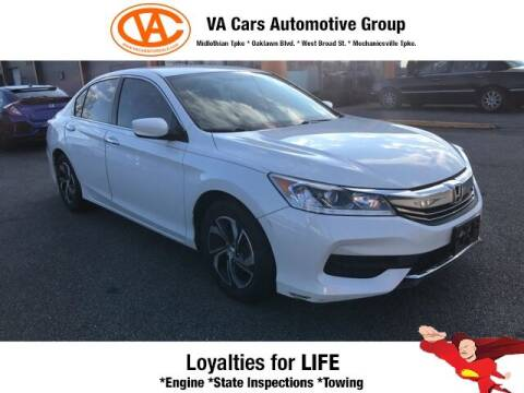 2016 Honda Accord for sale at VA Cars Inc in Richmond VA