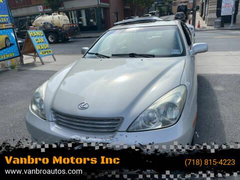 2003 Lexus ES 300 for sale at Vanbro Motors Inc in Staten Island NY