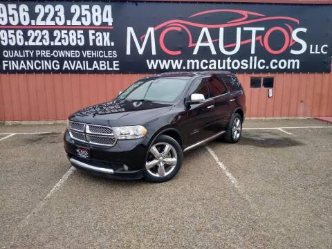2013 Dodge Durango for sale at MC Autos LLC in Pharr TX